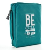Be Still and Know Bible Cover, Teal, Medium