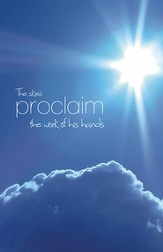 The Skies Proclaim, Pack of 100 Bulletins