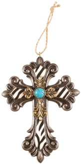 Mini Cross, Zebra and Turquoise
