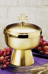 Contemporary 250-Host Ciborium with Cross Top