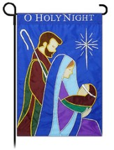 O Holy Night Applique Flag, Small