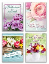 A Joyful Mother's Day, Box of 12 Assorted Mother's Day Cards (KJV)