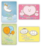 Cute and Cuddly, Box of 12 Assorted Baby Congratulations Cards (KJV)