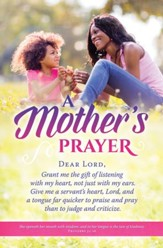 A Mother's Prayer (Proverbs 31:26) Bulletins, 100
