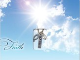 Faith, Pendant, with Mailable Card