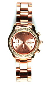 Lady's Watch with Cross, Rose Gold
