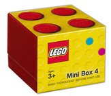 Bright Red LEGO Mini Box Size 4 (Insertable Snack Box for Lunches)