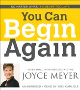 You Can Begin Again, Audiobook CD, Unabridged