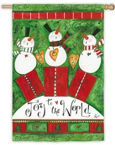Joy To The World, Snowmen, Large Flag