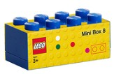 Bright Blue LEGO Mini Box Size 8 (Insertable Snack Box for Lunches)