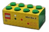 Dark Green LEGO Mini Box Size 8 (Insertable Snack Box for Lunches)