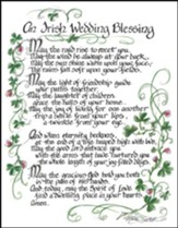 An Irish Wedding Blessing Plaque
