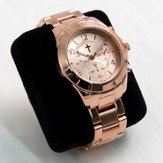 Chronograph Style Watch with Copper Color Band