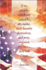 Pray and Seek my Face Flag and Sunrise (2 Chronicles 7:14) Bulletins, 100