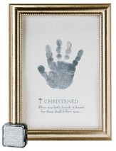 Christened Handprint Framed Print