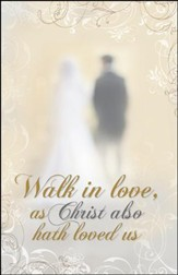 Walk in Love Couple at the Altar (Ephesians 5:2) Bulletins, 100
