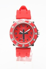 Silicone Band Watch, Red