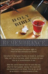Remembrance Words of Institution Bible Crown of Thorns (1 Corinthians 11:23-26) Bulletins, 50