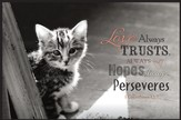 Love Always Trusts, Kitten, Framed Art