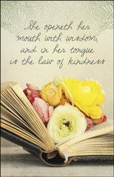 Wisdom and Kindness Flowers in Book (Proverbs 31:26) Bulletins, 100