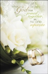 God Has Joined Together Wedding Bands (Matthew 19:6, NIV) Bulletins, 100