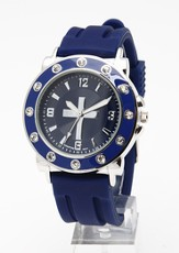 Silicone Band Watch, Navy