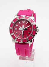 Silicone Band Watch, Pink