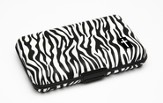 Cash and Credit Card Pocket Case with Cross, Zebra Design