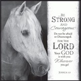 Be Strong and Courageous, Horse Framed Art