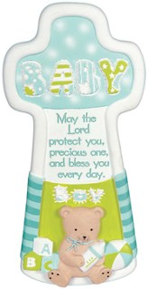 Baby Blessings Wall Cross, Boy