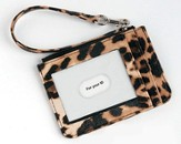 Keyring and ID Pouch with Cross, Leopard