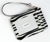 Keyring and ID Pouch with Cross, Zebra