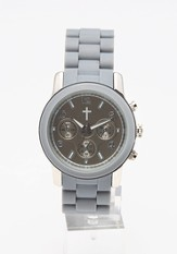 Chronograph Style Watch, Gray and Silver