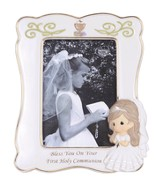 Bless You On Your First Holy Communion, Photo Frame, Girl