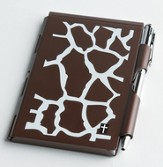 Giraffe Pattern Notes Case and Pen Set