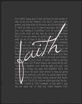 Faith, Chalkboard Framed Art