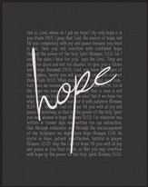 Hope, Chalkboard Framed Art