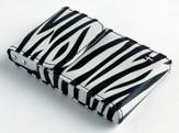 Flip Business Card Holder with Cross, Zebra