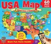 USA Map Puzzle, 60 Pieces