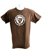 Zion Bible College Short-sleeve Tee, Brown, Large (42-44) - Slightly Imperfect