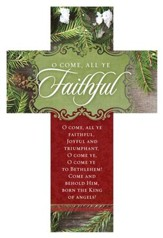 O Come All Ye Faithful Cross Design Bookmarks, 25