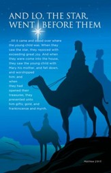 And Lo The Star (Matthew 2:9-11, KJV) Christmas Bulletins, 100