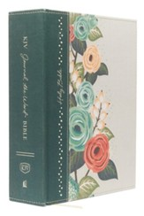 KJV Journal the Word Bible, Large Print, Hardcover, Green Floral Cloth, Red Letter Edition