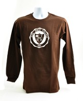 Zion Bible College Long-sleeve Tee, Brown, Small (36-38)