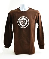 Zion Bible College Long-sleeve Tee, Brown, XX-Large (50-52)