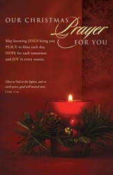 Christmas Prayer (Luke 2:14) Bulletins, 100