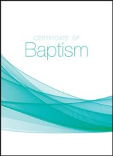 Youth Baptism Certificates (John 1:12, NIV) Package of 6