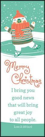 Merry Christmas (Luke 2:10-11, NLT) Bookmarks, 25
