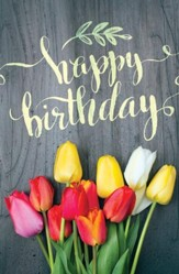 Birthday Tulips Postcards (Numbers 6:24, NIV) Pack of 25