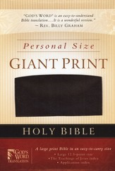 GOD'S WORD Personal Size Giant-Print Bible-- imitation leather, burgundy